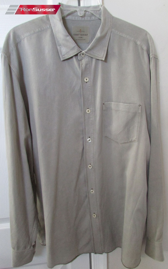 2e208312 I am pleased to offer this beautiful pre-owned Tommy Bahama jeans men's  button front long sleeve shirt. Made in China from 60% Tencel Lyocell and  40% cotton ...