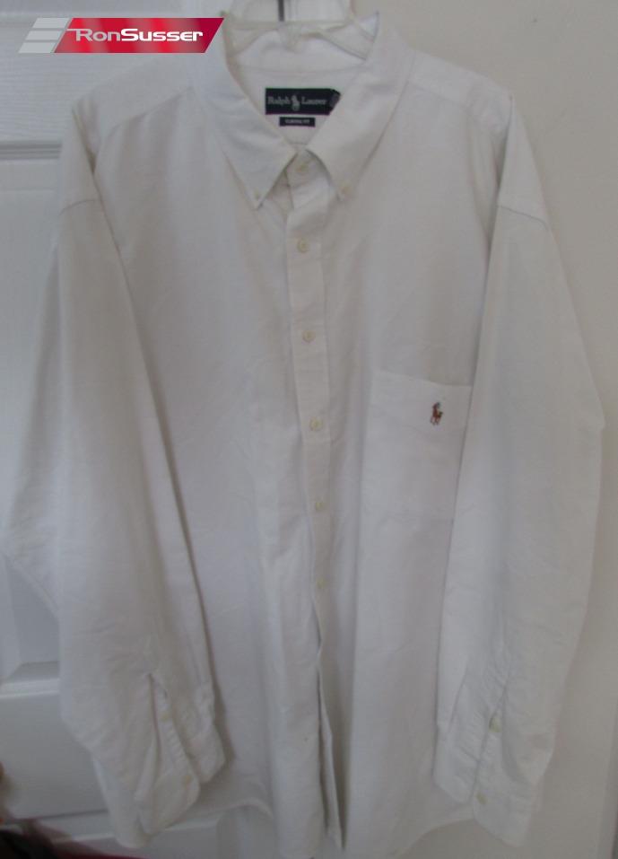 4e2b3c4b1 Polo Ralph Lauren Men s Long Sleeve Button Front White Shirt 4XB Big ...