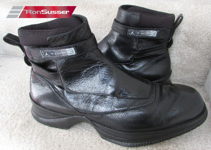 511cabc091771b ... I am pleased to offer these vintage Nike Air Jordan Two3 elegant black  leather ankle boots ...