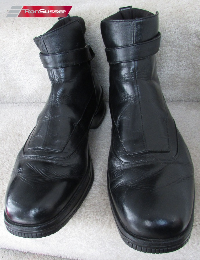 2001 Vintage Nike Air Jordan Elegant Two3 Black Leather Ankle Boots ... f383af380