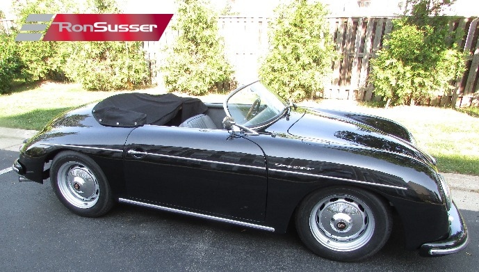 1957 Porsche 356 Speedster Replica Black With Gray Seats