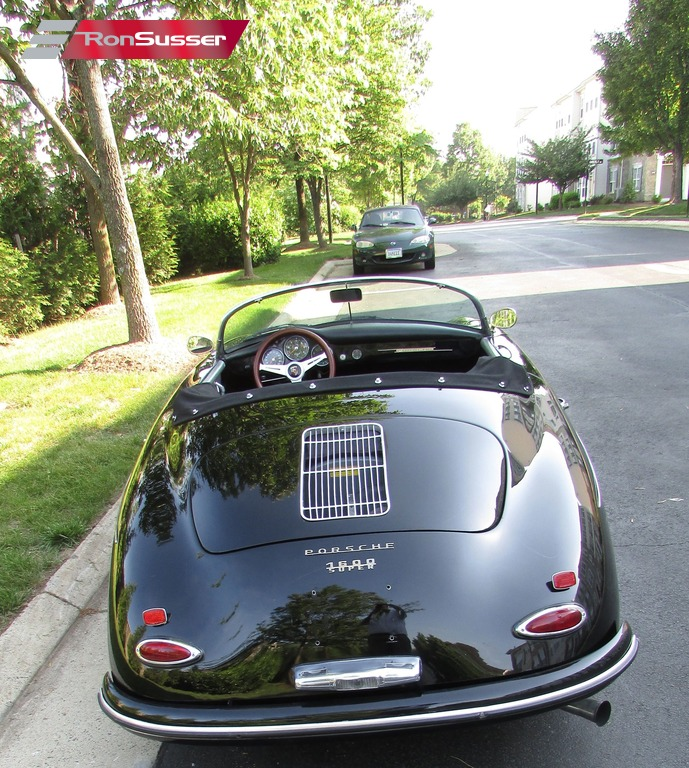 Porsche 356: 1957 Porsche 356 Speedster Replica Black With Gray Seats