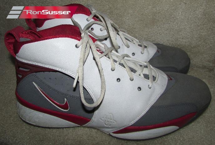 Nike Air Retro Huarache 64 White Red Grey Basketball Shoes 313386 ...