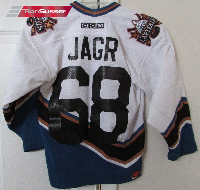 NHL Washington Capitals CCM Jaromir Jagr  68 Jersey Size Youth S M ... 0c7337a43a8