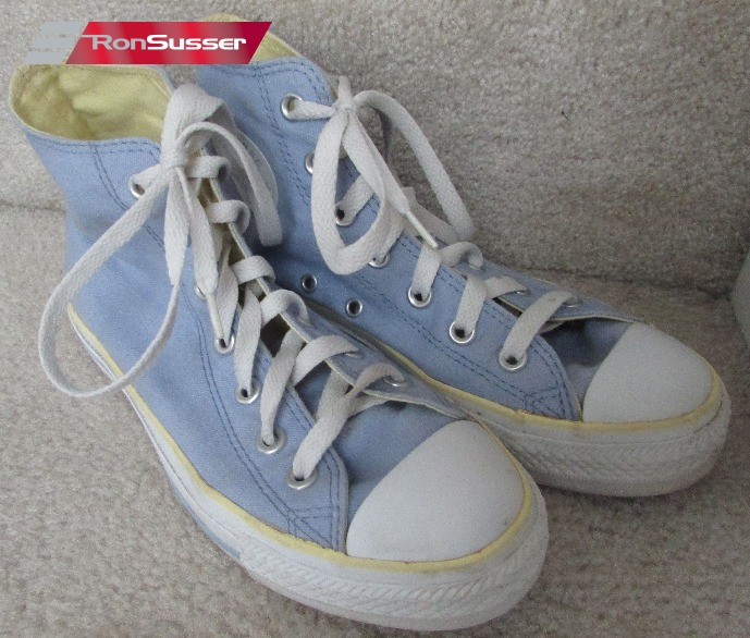 consonante trimestre acceso  Converse All Star Chuck Taylor Hi Top Blue Banana 1S167 – 5 Men 7 Women –  RonSusser.com