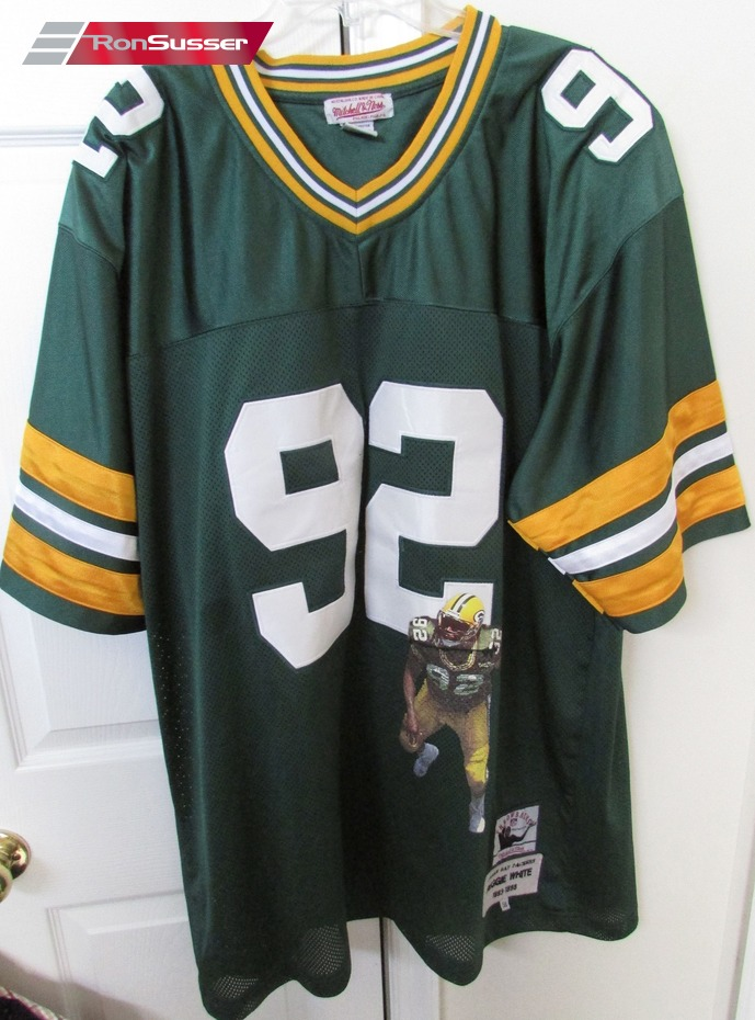 NFL Green Bay Packers 93-98 Reggie White  92 Mitchell Ness Throwback ... a57edac89