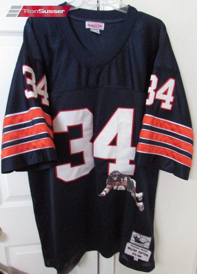 6c5a6ee20 NFL Chicago Bears 75-86 Walter Payton #34 Mitchell Ness Throwback Jersey Sz  58