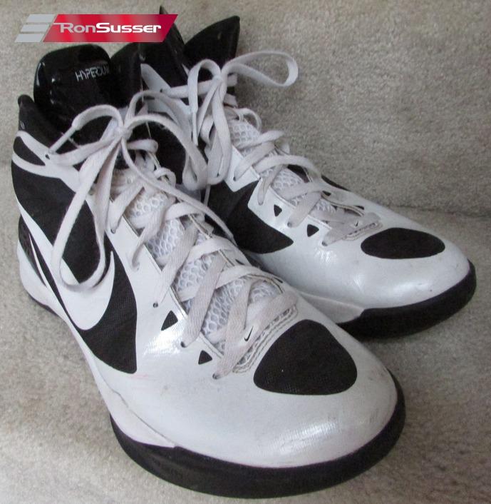 cdb05efd5daf ... Nike Zoom Hyperdunk White Black Basketball Shoes Size 11.5 Style .