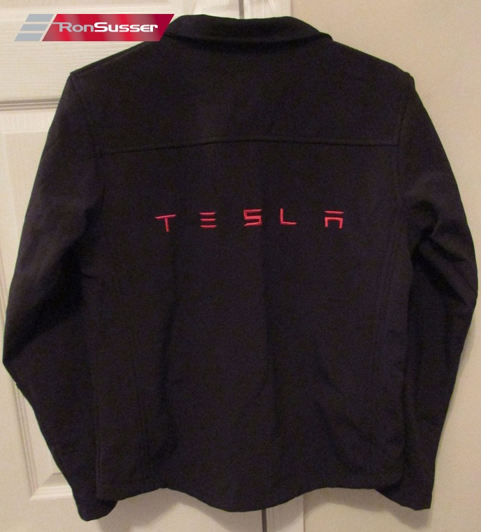 Tesla Motors Mens Black Full Zip Jacket Medium Euc Ronsusser Com