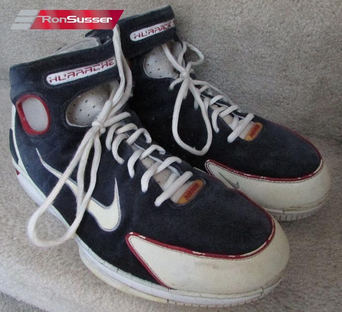 f2e7337b2a Nike Air Zoom Huarache 2K4 Suede Basketball Shoes 308475-411 SZ 12  Navy/Red/White
