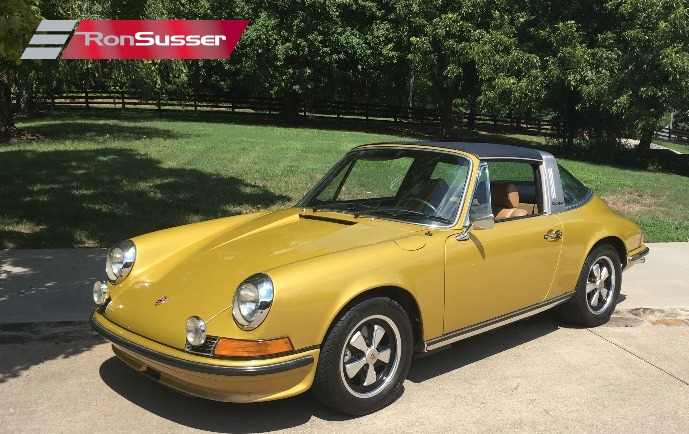 1973 Porsche 911e Sportomatic Targa Gold Metallic