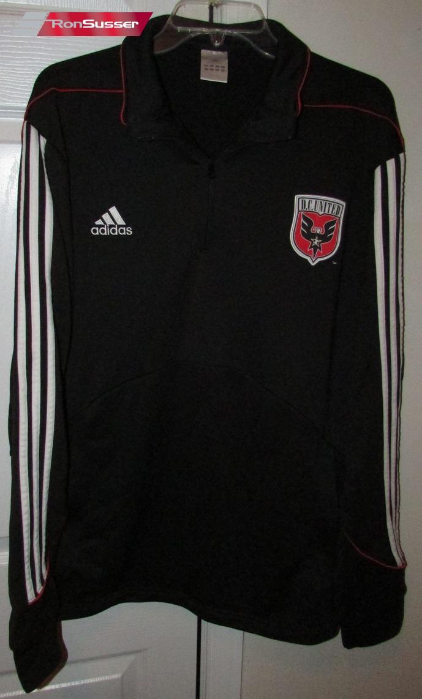 dc united track jogging jacket half zip warm up jacket xl black by