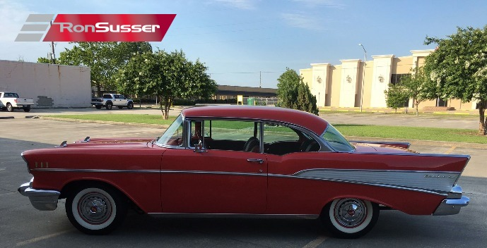 1957 Chevy Belair Red With Red Interior Fully Restored