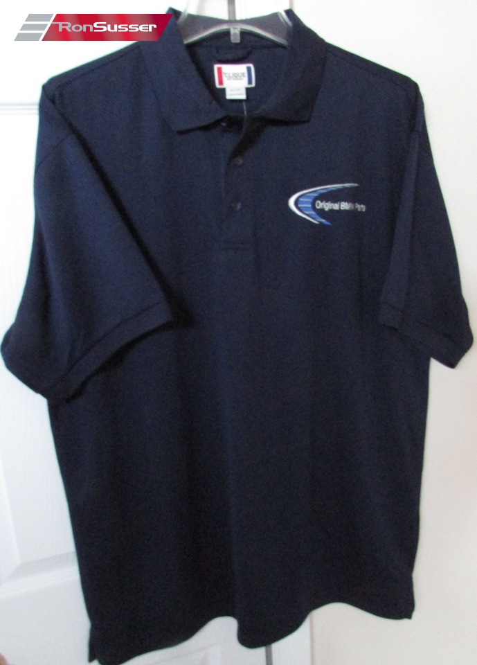 bmw original parts navy blue polo shirt xl by clique nwt