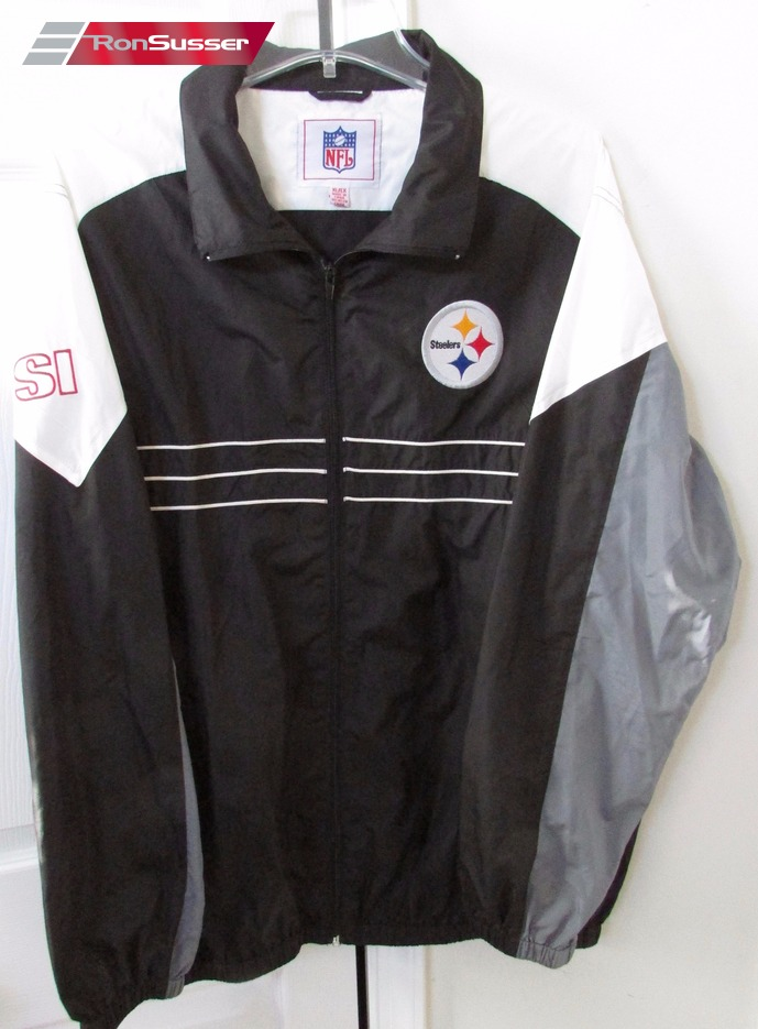 timeless design 97ca9 32c90 NFL Pittsburgh Steelers SI Light Weight Jacket Windbreaker ...