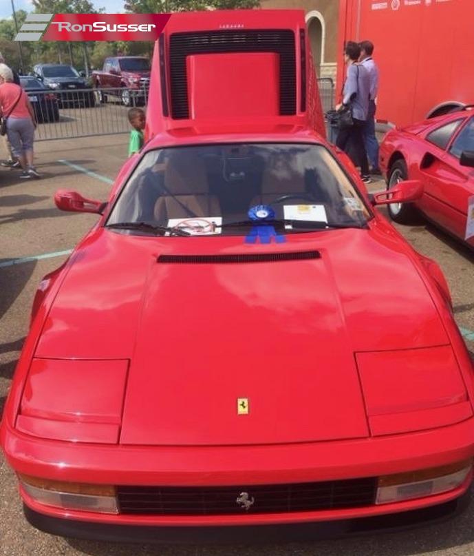 Ferrari Testarossa: 1991 Ferrari Testarossa Gorgeous Red/Tan Upgraded Exhaust