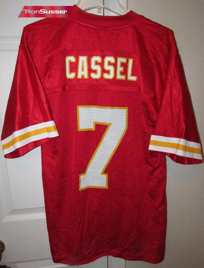 big sale f62f5 b2833 Details about NFL Kansas City Chiefs #7 Matt Cassell LH Patch Jersey Sz  Medium