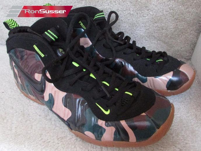 best website 2e2ba 0006f Nike Air FOAMPOSITE Pro Army Camo Basketball Shoes 587547-300 Sz 11 Sneakers