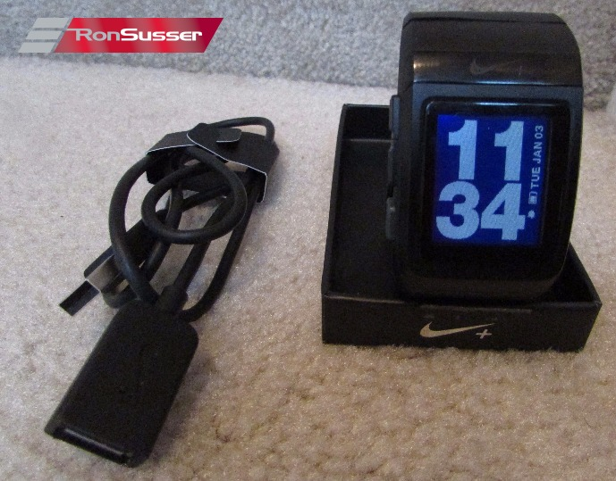 Nike + Sportwatch GPS Fitness Runner Sports Watch Powered by TomTom, Black  in Box