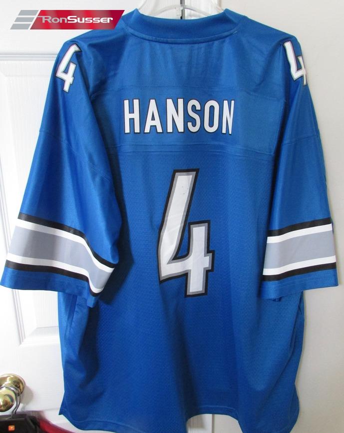 NFL Detroit Lions Jason Hanson #4 Jersey 3XL EUC – RonSusser.com