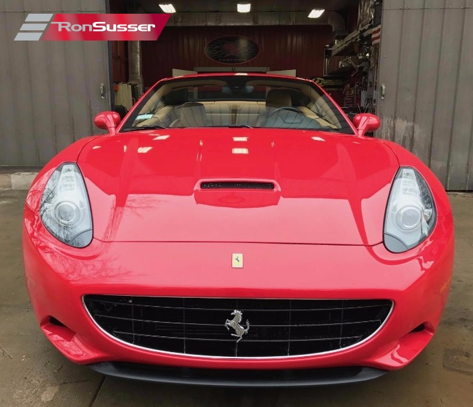 Ferrari Convertible: 2010 Ferrari California Hardtop Convertible Red/Tan 24K