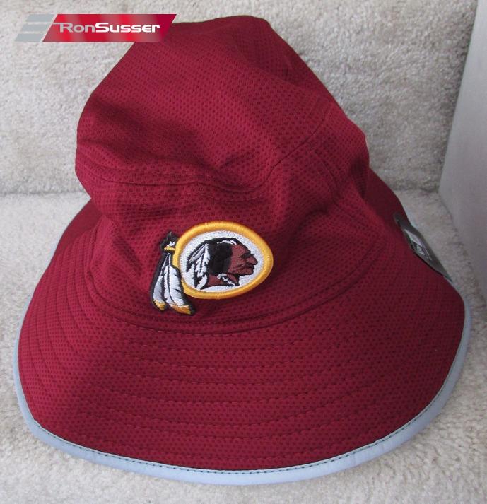 0433e3b91dc21d NFL Washington Redskins Training Bucket New Era Maroon Hat Team Issued Large /XL NEW