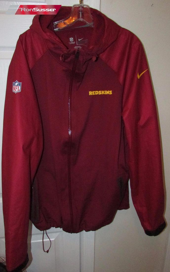 big sale 9eafe 8d26c NFL Washington Redskins Team Issued Full Zip Hoodie Rain ...