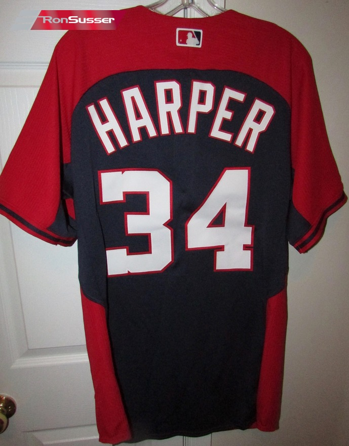 low priced 1dfc5 bd35c MLB Washington Nationals #34 Bryce Harper Jersey Majestic ...