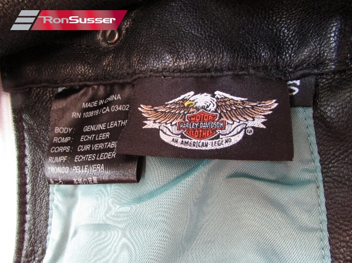 f8a575665 Ladies Harley Davidson Black CASCADE Blue Trim Leather Riding Chaps ...