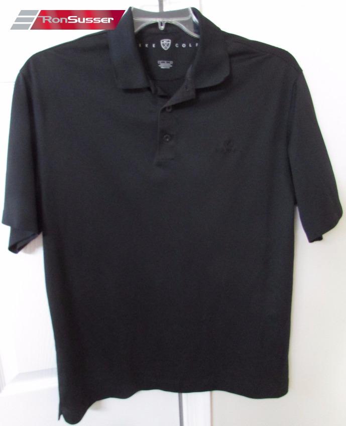 Lexus Black Mens Polo Golf Shirt By Nike Large EUC