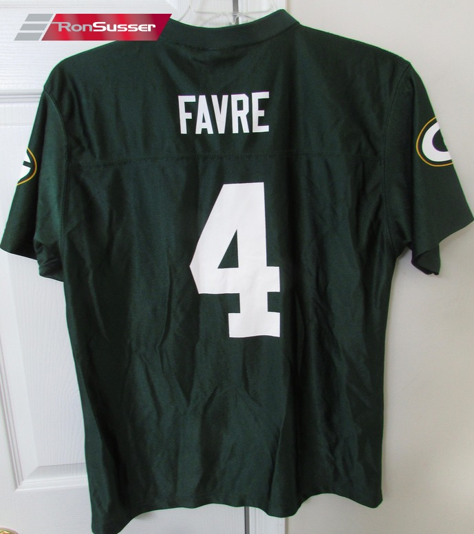wholesale dealer be80a f6649 NFL Green Bay Brett Favre #4 Replica Jersey Youth XL (18-20 ...