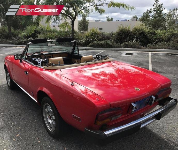 Fiat 124 Spider Convertible: 1981 Fiat Spider 2000 Convertible Red/Tan Very Fun Fiat