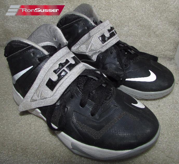 on sale 7e0ca b17ee Nike Lebron Soldier 7 Kids Black/Gray/White Basketball ...