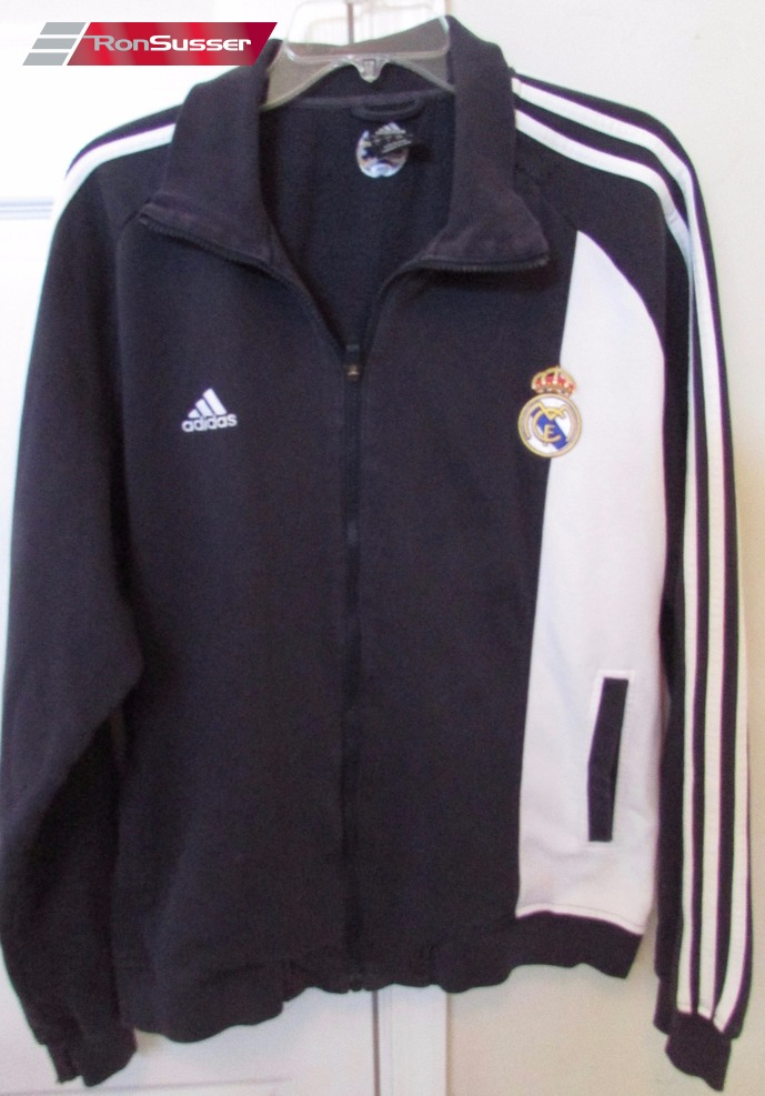 real madrid full zip track jogging warm up jacket large by adidas