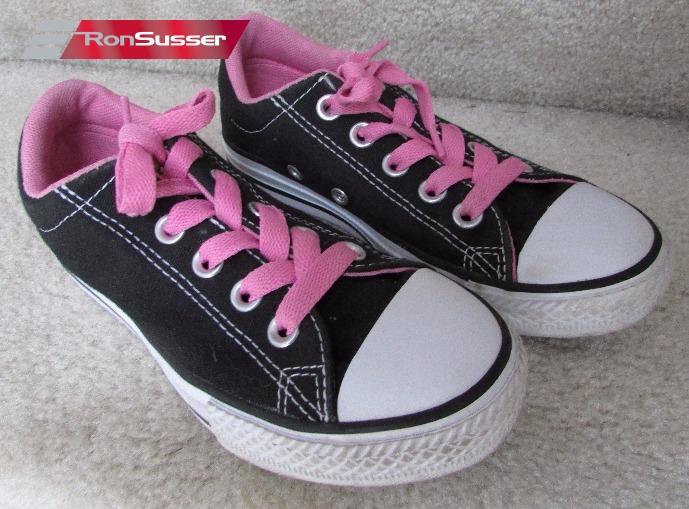 56d1b4bd7437 Converse Chuck Taylor All Star Street Ox Black Pink Size 1 Junior 650457F