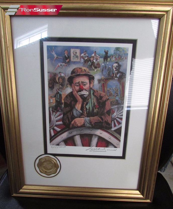 Pair Of 2 Emmett Kelly Original Circus Collection Signed
