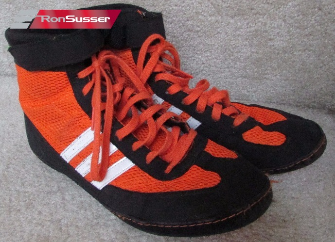 a9aa13dc824 Adidas Combat Speed Youth Boys Wrestling Shoes Size 6.5 Black Orange M18782