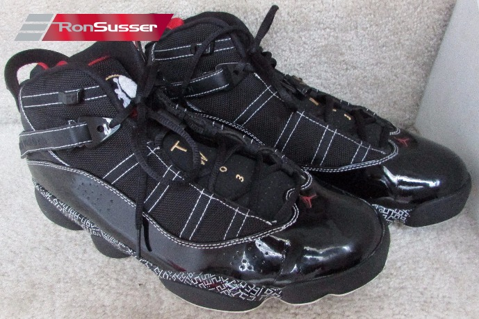 sale retailer f4242 9f3fb Nike Air Jordan 6 Rings HOF Black/Red/Gold Hall Of Fame ...