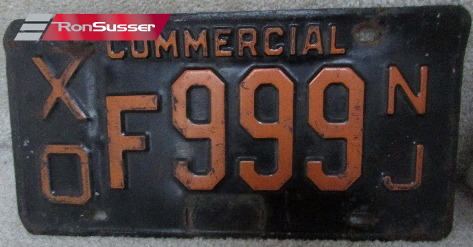 Vintage Antique NEW JERSEY Commercial License Plates- XOF999 NJ & Vintage Antique NEW JERSEY Commercial License Plates- XOF999 NJ ...