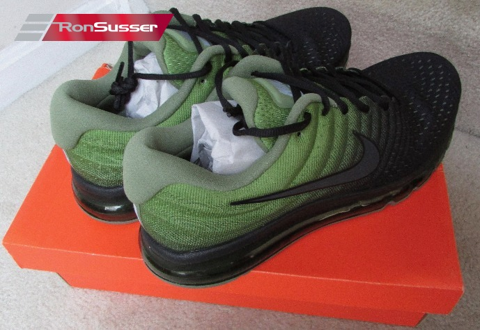 Nike Air Max 2017 Men's Running Shoes BlackPalm Green 849559 006