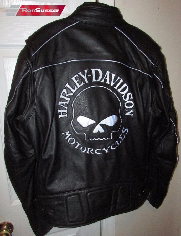 Harley Davidson Men S Reflective Skull Leather Jacket
