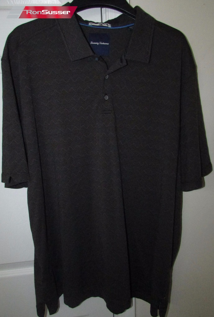 9c758c9d Tommy Bahama Cotton/Silk Blend Mens Short Sleeve Polo Golf Shirt Gray XXL