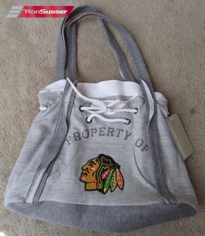 Nhl Chicago Blackhawks Sweatshirt Hoo Tote Bag Purse Handbag Little Earth Nwt