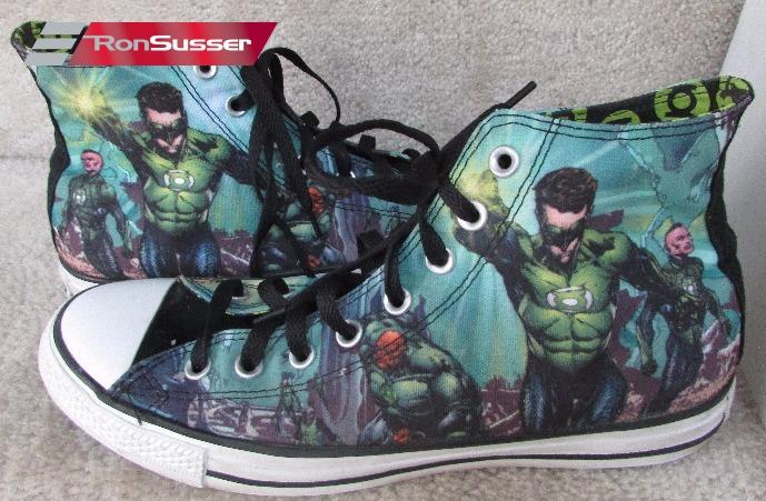 984440d82a3f Converse All Stars Chuck Taylor Hi Tops Sneakers DC Comics Green Hornet  Size 10