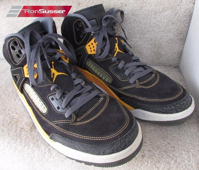 203a931bcdfe2c Nike Air Jordan Spizike Black Gold 315371-030 Basketball Shoes Sz 13 ...