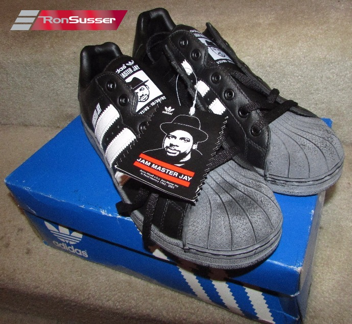 28cf0b39e353 2003 Adidas Superstar ULTRASTAR JMJ Jam Master Jay Run DMC BLACK 678653 Sz 9