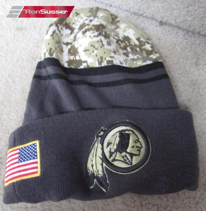 NFL Washington Redskins Winter Knit Cap Hat Camo Team Issued by New Era  OSFA Salute Service e3fda4273