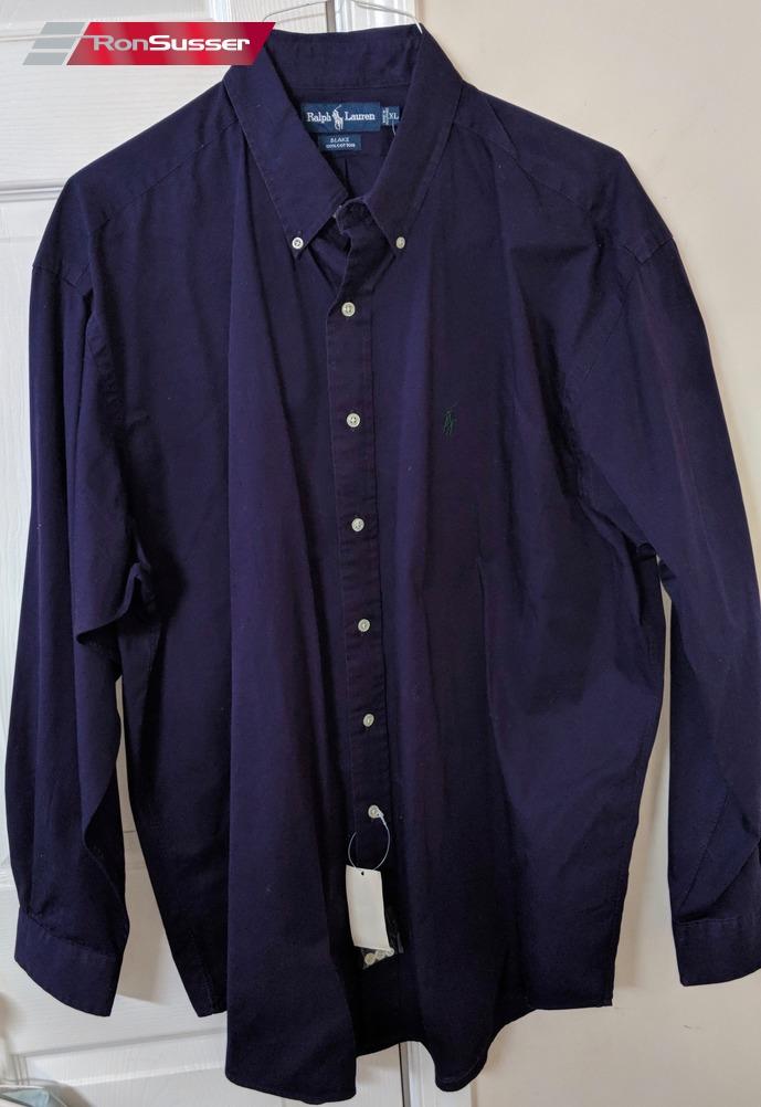 Dark Men's Shirt Ralph Long Polo Xl Front Blake Lauren Sleeve Button ULqVpGSzM
