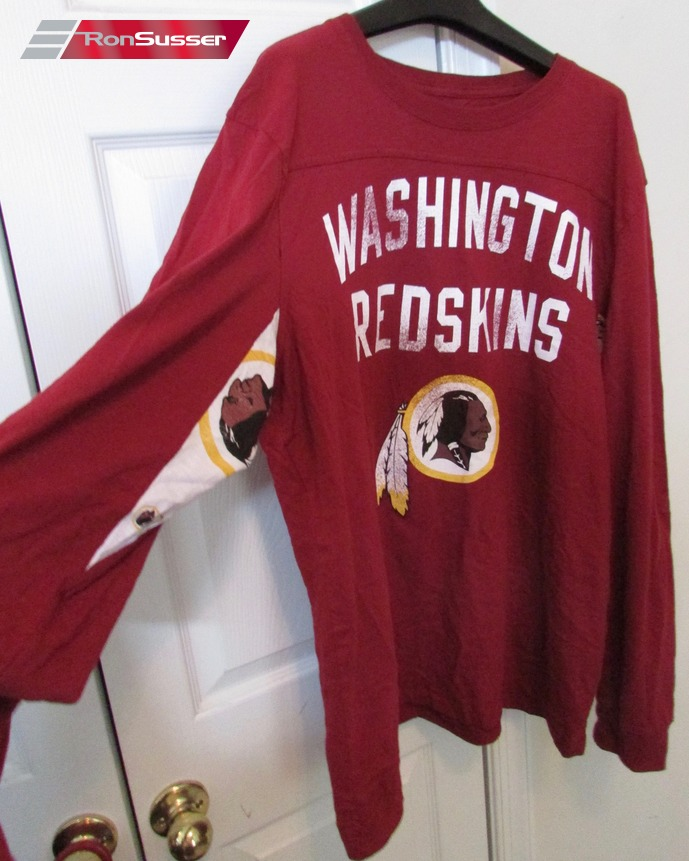 new product 469bc b8f21 Details about NFL Washington Redskins Long Sleeve Hands High Shirt 2XL EUC  by GIII