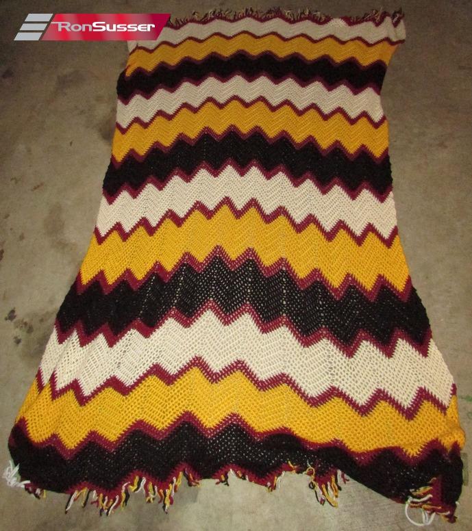 NFL Washington Redskins Handmade Knitted Throw Blanket 40 X 40 EBay Awesome Redskins Throw Blanket